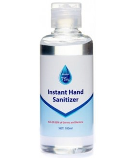 75% Alcohol based hand sanitiser 100ml bottle in stock