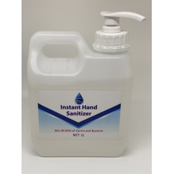 75% Alcohol Hand Sanitizer Gel, 1L STRONG bottle with Pump.