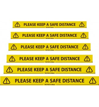 SAFETY TAPE - KEEP SAFE DISTANCE APART - 66M TAPE LENGTH