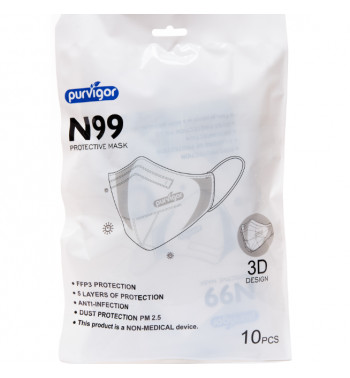 FFP3 N99 Protective Mask 99% Filtration (pack of 10)