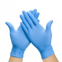 Disposable Nitrile Gloves Top Quality Pack of 100 gloves - 50 pairs (Large)