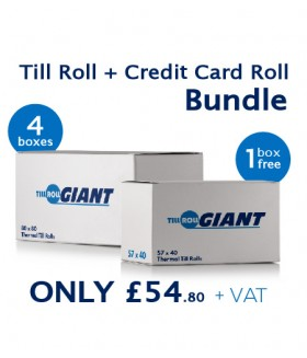 Till Roll Bundle Deal + 1 Free Credit Card Thermal Rolls Box
