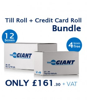 Till Roll Bundle Deal + 4 Free Boxes Of Credit Card Thermal Rolls