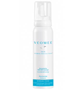 Veomee Skin Protection Foam prevents damaged skin. Made in Germany