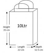 50 Brown Paper Carrier Bags with Flat Handles Kraft Takeaway Bags H35 x L22 x D12.5