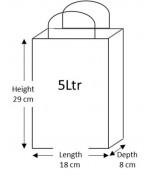 50 Brown Paper Carrier Bags with Flat Handles Kraft Takeaway Bags H29 x L18 x D8